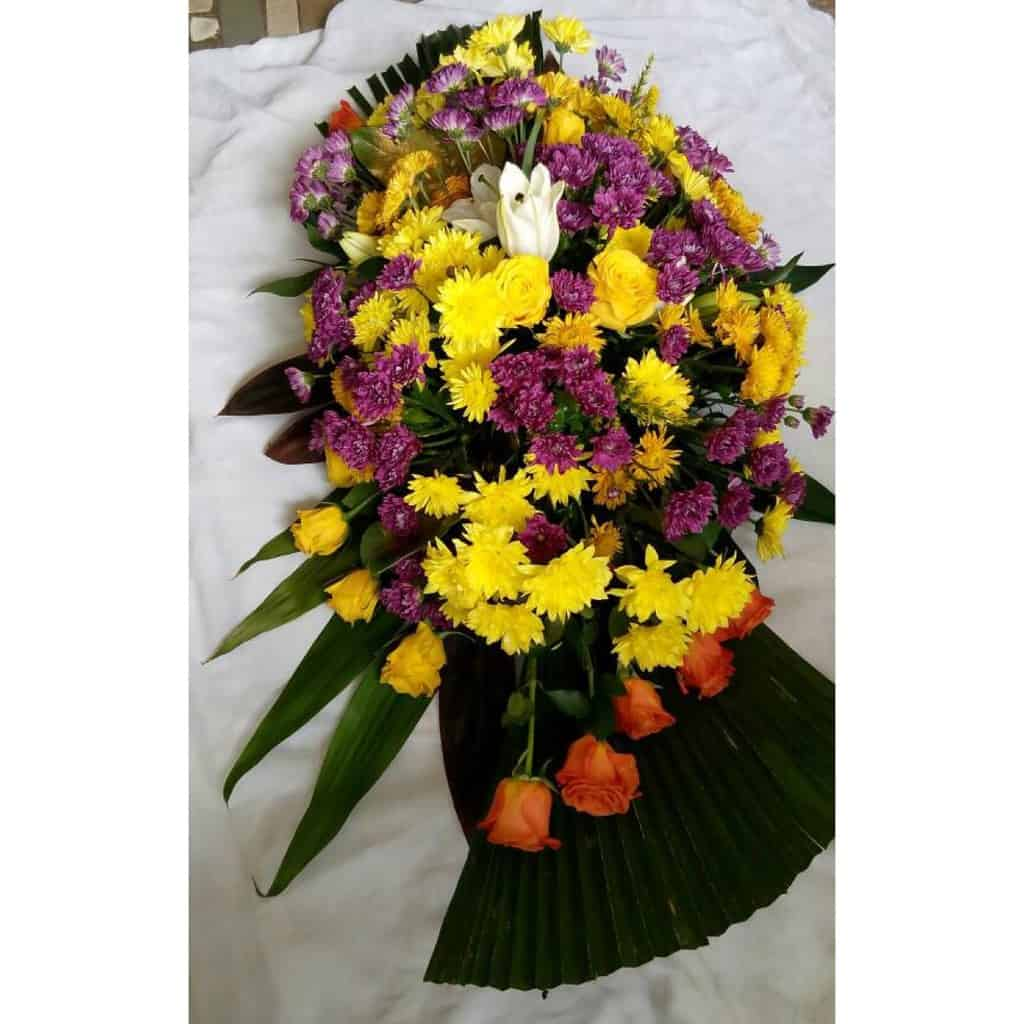 Funeral Flowers In Lagos Casket Saddle Sympathy Flowers