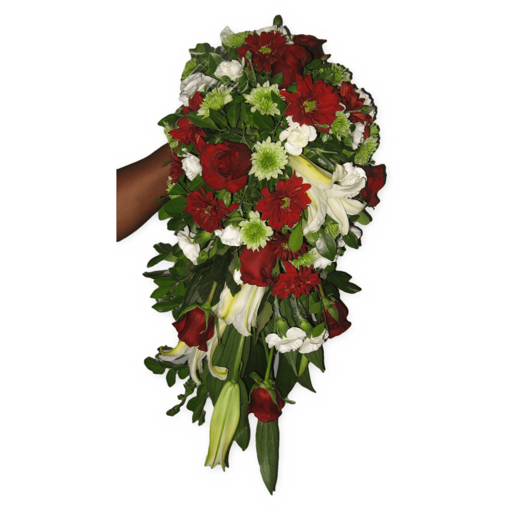 Red And White Wedding Bouquet Christines Creatives